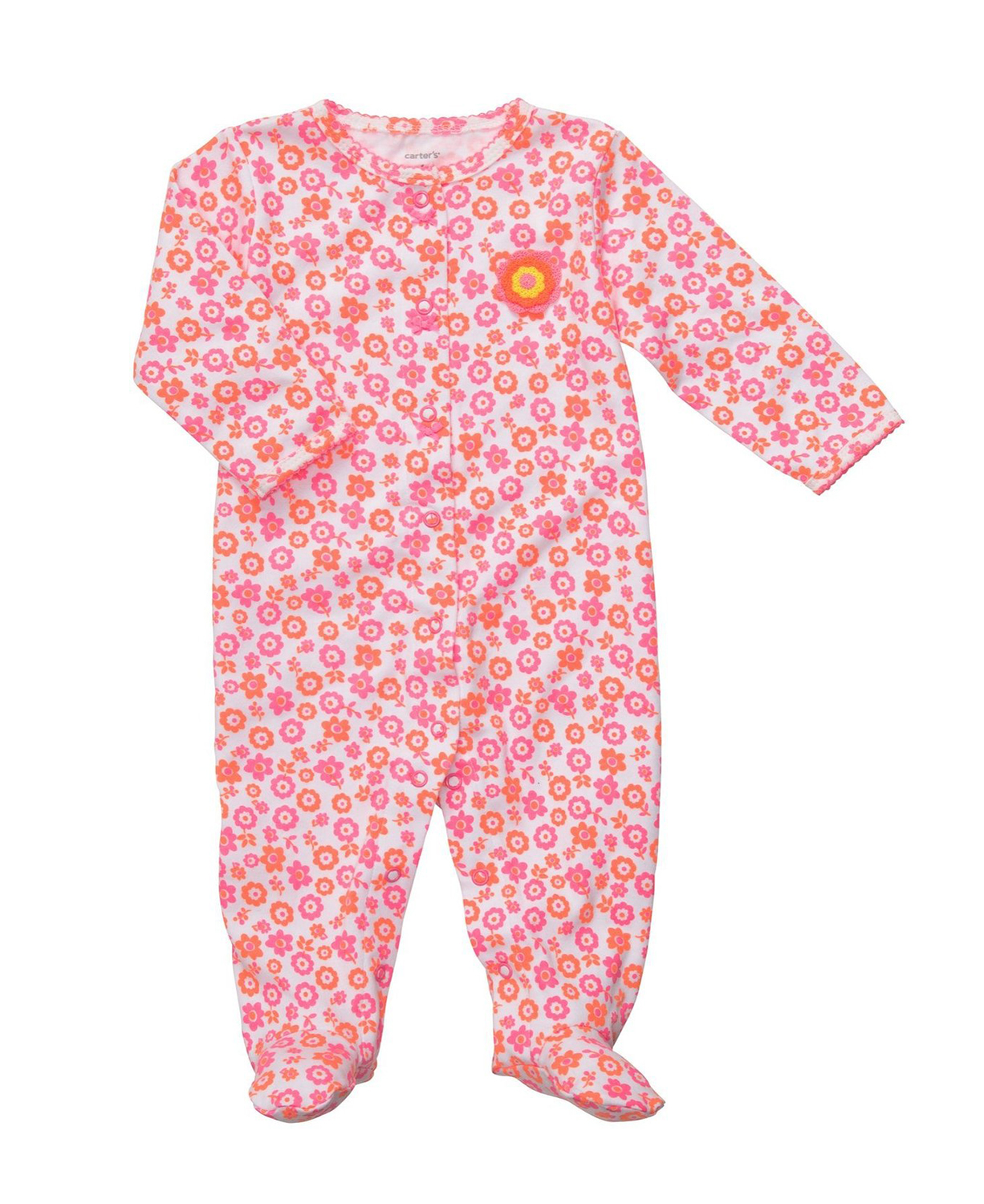 b3d210eaf Carters Floral Snap Up Sleep PINK Baby Sleepers - Baby Clothes