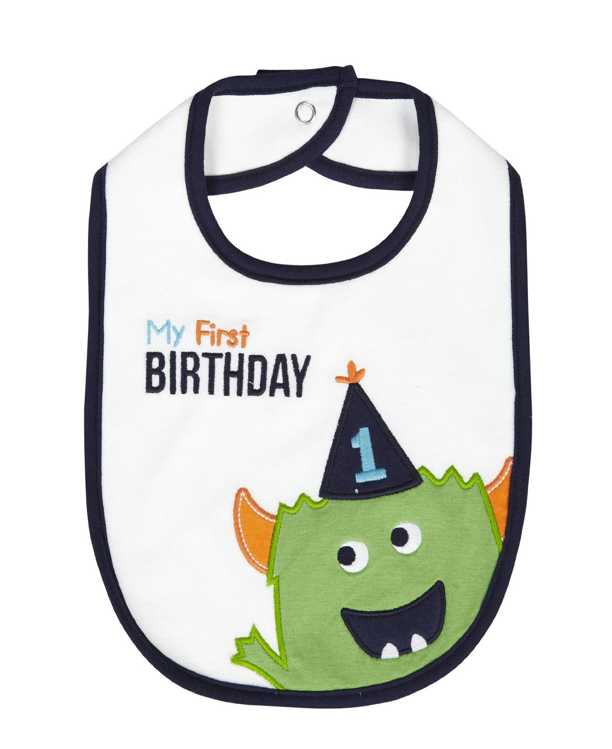 Carters My First BIRTHDAY Green Monster Baby Teething Feeding1st Birthday Bib