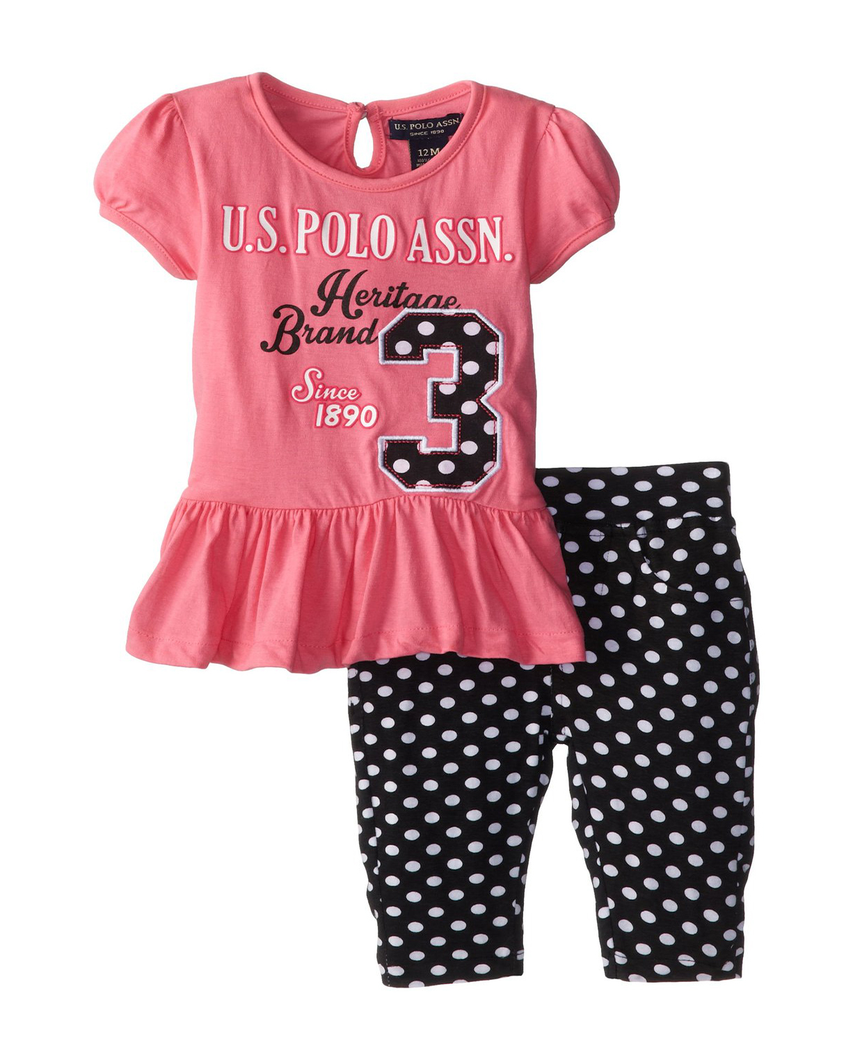 U S Polo Assn Baby Girls Infant Bubble Top And Baby Girl
