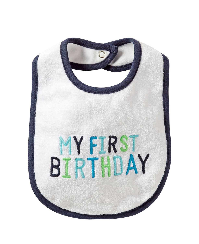 Baby Boy Carter/'s My First Birthday Bib
