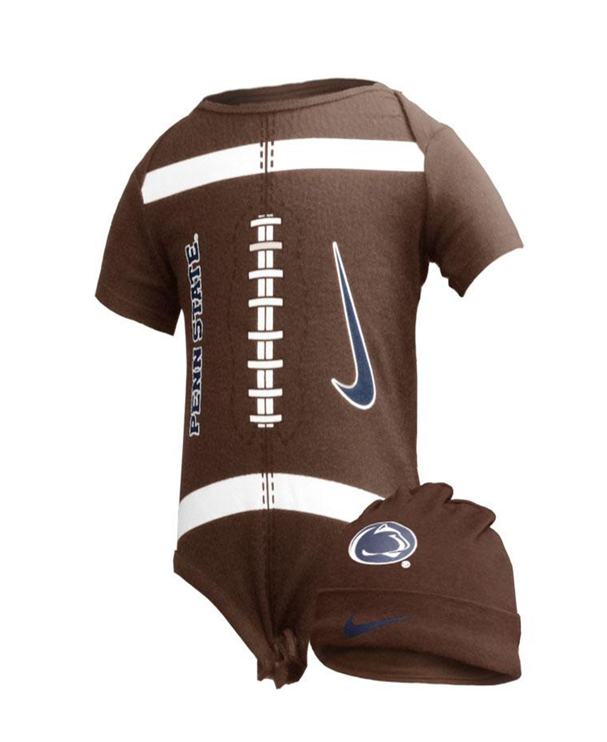 Cute Penn State Baby Bodysuit And Hat 6 To 9 Months