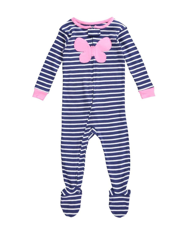 Carter S Baby Pajamas Girls Striped Footie Baby Heart