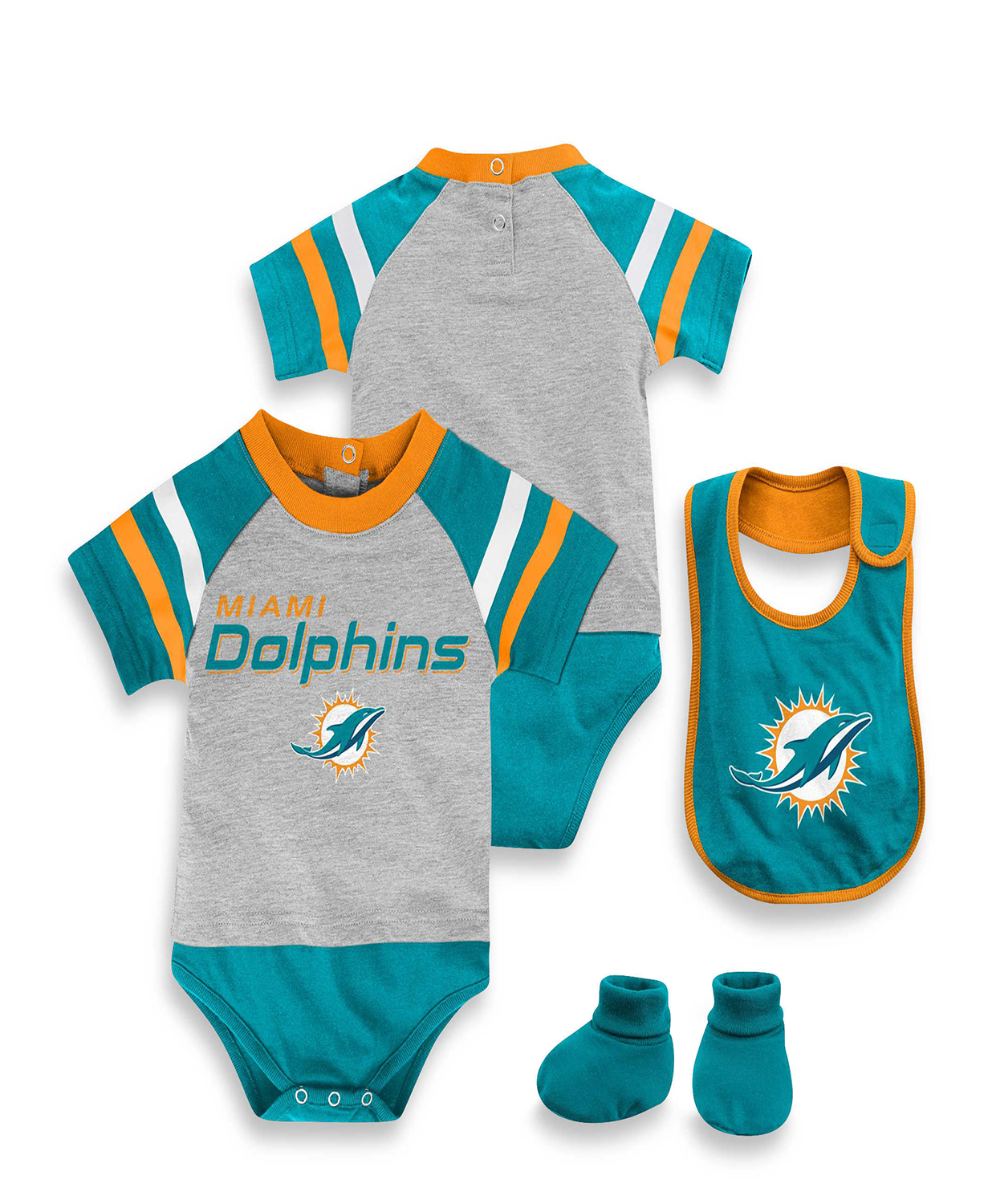 dca070d57 NFL Kids Baby 3 Piece Dolphins Baby Bodysuit Set - Baby Clothes ...