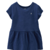 New Carter's Baby Toddlers Girls Navy Blue Toddler Girl Blouse Top