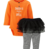 Carter's 2 Piece Halloween Tutu Set (Baby) - Orange-9 Months - Baby Halloween Outfits