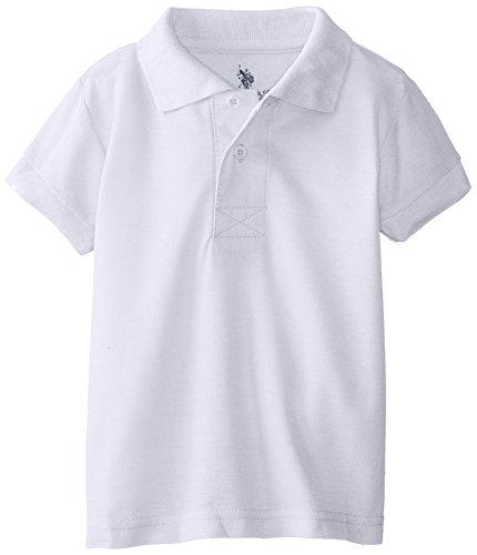 508aae5f5b32 U.S. Polo Assn. Little Boys' Toddler Short Sleeve Cotton Pique Polo, White,  4T