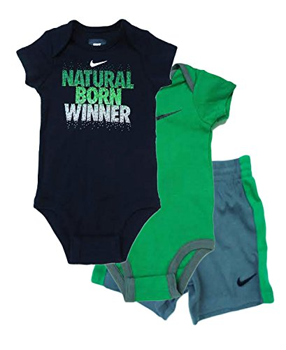 d06091e59 Nike Baby Boys' 3-Piece Top And Shorts Set (9 - 12 Months, Cool Grey ...