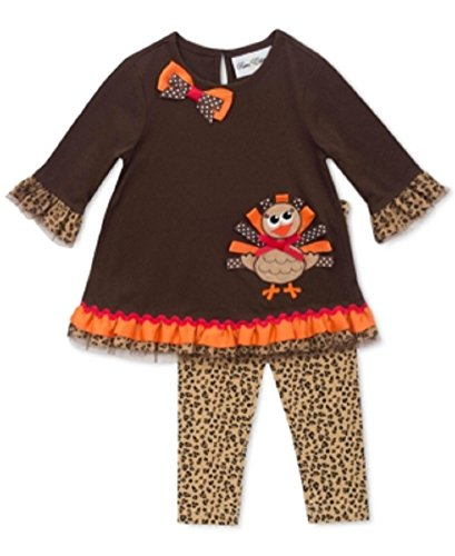 59502427815d25 Rare Tions Baby Girls 2-piece Turkey Tun Brown 18 Months - Baby Clothes