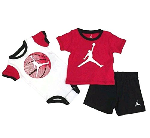 0e12f464f39 Nike Air Jordan 3-Piece Baby Boys Bodysuit and Short Set – 6/9 Months