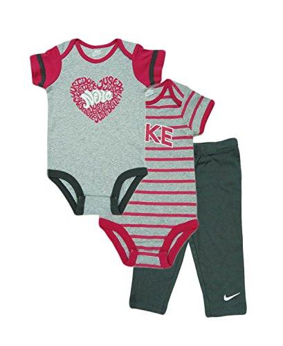 2c34f95a2 Cute Nike 3 Piece Bodysuit Bottom Set – Boys' Infant (9-12 Months, Dark  Grey)