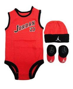 82d4e56d0 Nike Jordan 23 Jumpman 3 Piece Infant Gift Set (0-6 Months, Lava ...