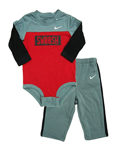753a2e119 Nike Baby Boys Swoosh 2 Piece Bodysuit Pants Set Outfit (6-9 Months ...