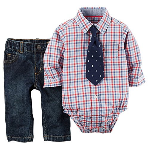 32e30b427 Carter's Baby Boys' 3-Piece Bodysuit & Pant Set (18 Months, Anchor ...