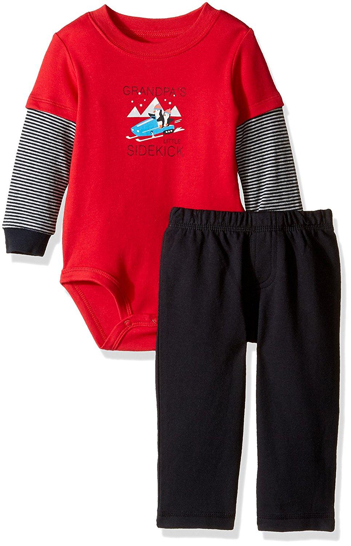 ee102cc34 Carter's Baby Boys' 2 Piece Bodysuit Set (Baby) - Red - 3 Months - Baby  Clothes, Baby Clothing, Baby Bodysuits, Baby Boy Clothes, Baby Girl  Clothes, ...