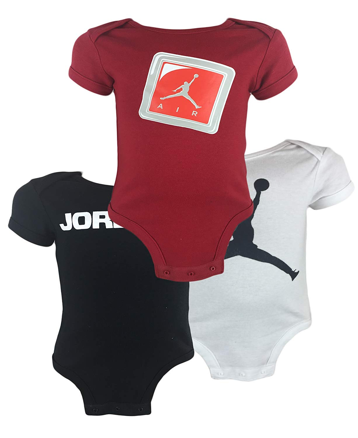 8d5bc6852c3ab2 Kids Boys Air Jordan Infant Baby Bodysuit 3 Piece Set - Baby Clothes ...
