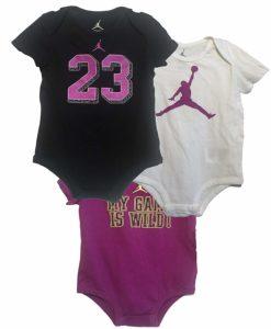 c489ef5396d0 Baby Girls  Air Jordan Infant 3PC Bodysuit Set - Baby Clothes