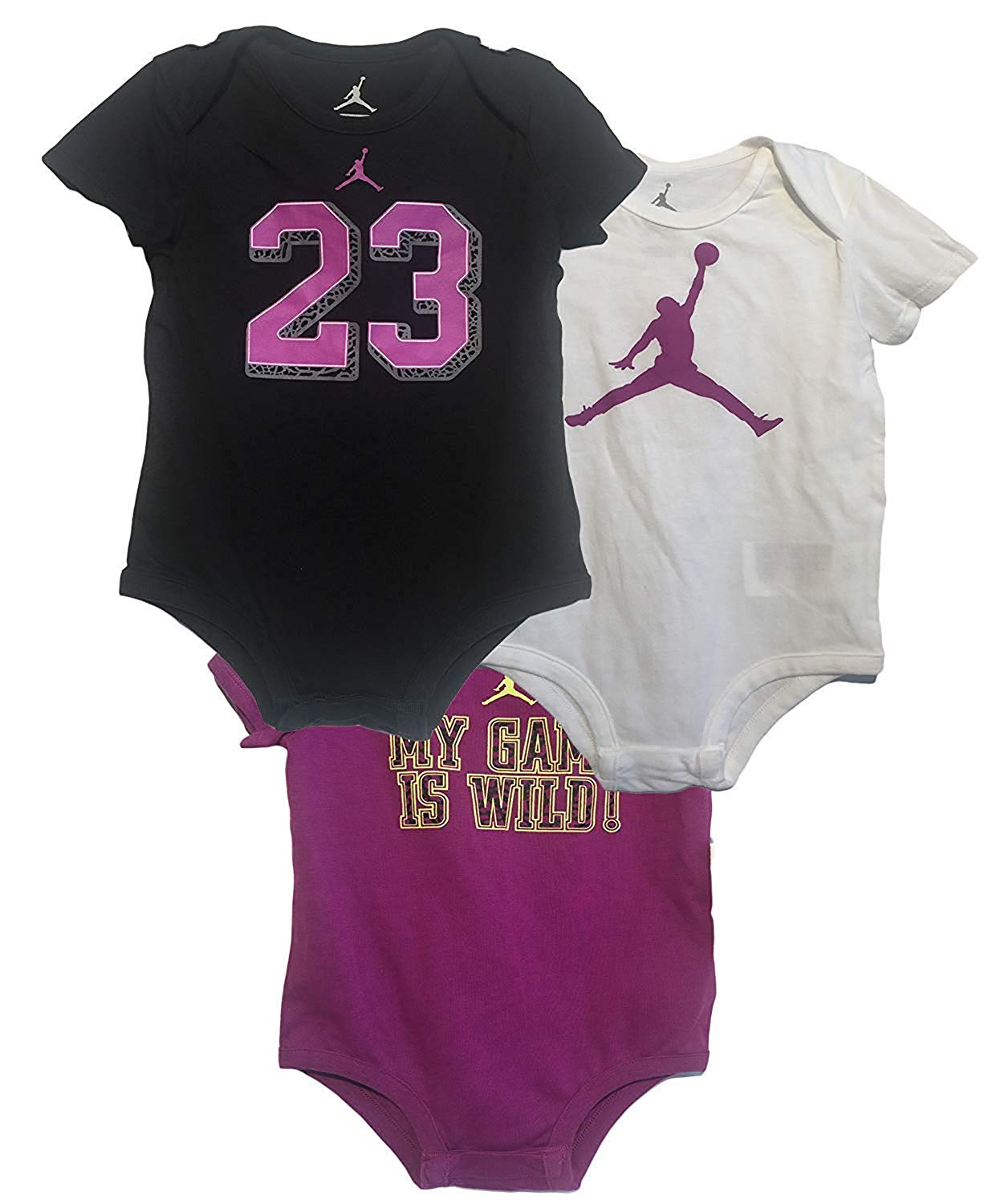 773035d1665 Baby Girls: Air Jordan Infant 3PC Bodysuit Set - Baby Clothes, Baby ...