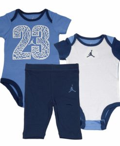 Nike Air Jordan 2 Piece Bodysuit Pant Set Blue Baby Clothes Baby Clothing Baby Boy Clothes Baby Girl Clothes Cheap Name Brand Clothes For Kids Toddler Name Brand Clothes Cheap Name Brand