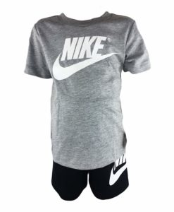 NWT Under Armour Boys Outfit Set Black Shirt shorts Size 4 Anthracite Heat Gear